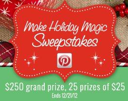 Make Holiday Magic Sweepstakes