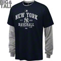 New York Yankees Big & Tall Long Sleeve T-Shirt