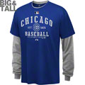 Chicago Cubs Big & Tall Long Sleeve T-Shirt