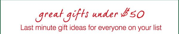 great gifts under $50 - Last minute gift ideas for everyone on your list.