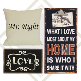 A Way With Words: Home Décor & Accents