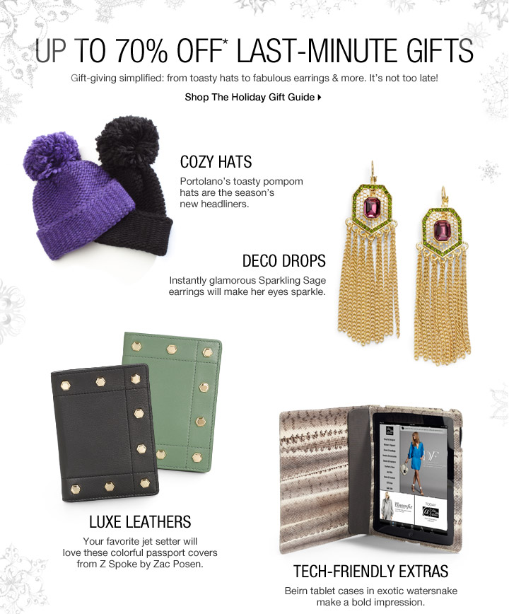 Up To 70% Off* Last-Minute Gifts