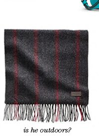 wool ticking stripe scarf
