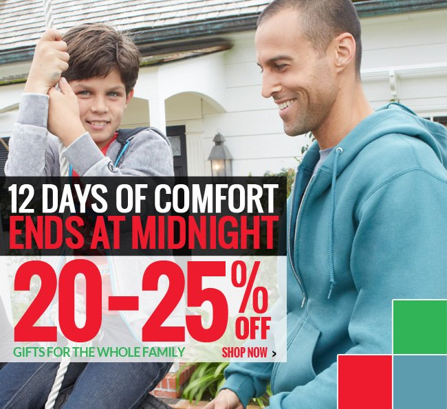 12 Days of Comfort from Fruit of the Loom