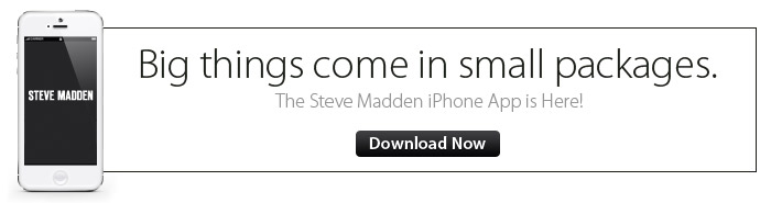 The Steve Madden iPhone App is Here! Download Now