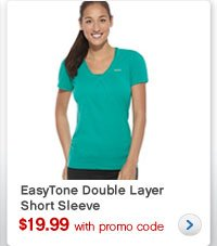 EasyTone Double Layer Short Sleeve | $19.99 with promo code