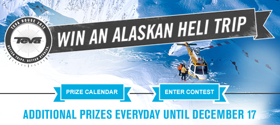 Win an Alaskan Heli Trip - New prizes every day for 42 days!
