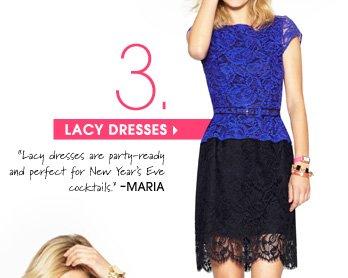 3. LACY DRESSES