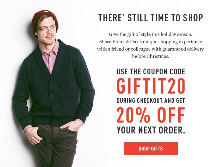 Use the coupon code GIFTIT20.