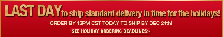 Order by 12pm Dec. 17th for guaranteed shipping by Dec. 24th