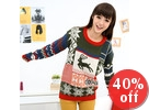 Snowflakes Print Sweater
