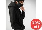Hooded Pullover with Inset Mask