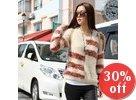 Striped Panel Fleece Sweater