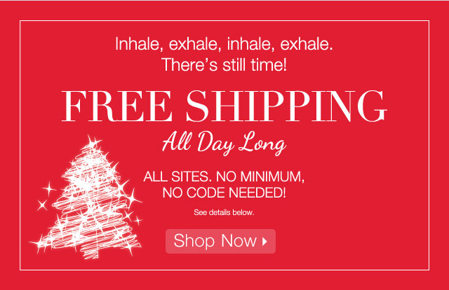 FREE SHIPPING: All day long- Shop Now