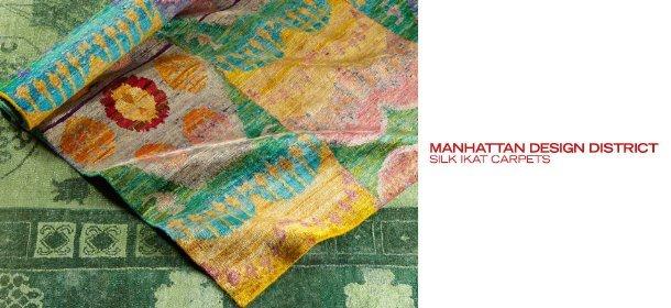 MANHATTAN DESIGN DISTRICT: SILK IKAT RUGS, Event Ends December 20, 9:00 AM PT >
