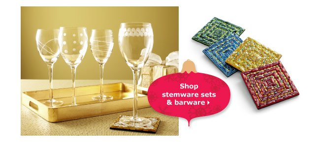 Shop stemware sets & barware