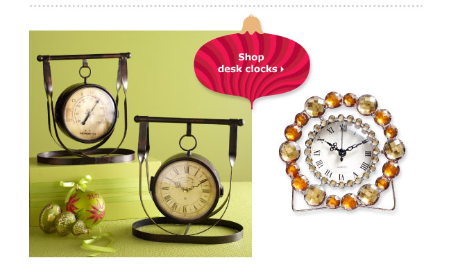 Shop desk clocks