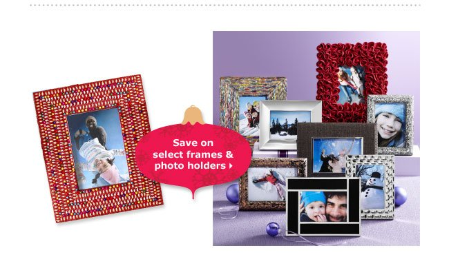 Save on select frames & photo holders