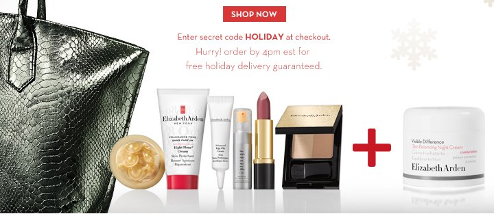 SHOP NOW. Enter secret code HOLIDAY at checkout. Hurry! order by 4pm est for free holiday delivery guaranteed.