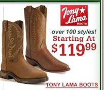 Tony Lama $119.99