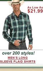 Men's Long Sleeve Plaid