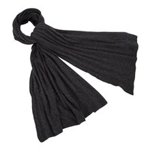 Paul Smith Scarves - Grey Cable Knit Cashmere Scarf