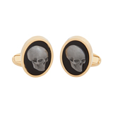 Paul Smith Cufflinks - Gold Skull Cufflinks
