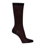 Paul Smith Socks - Burgundy Houndstooth Pattern Socks