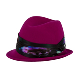 Paul Smith Hats - Violet Electric Peony Trilby Hat