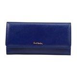 Paul Smith Purses - Blue Saffiano Leather Tri-Fold Purse