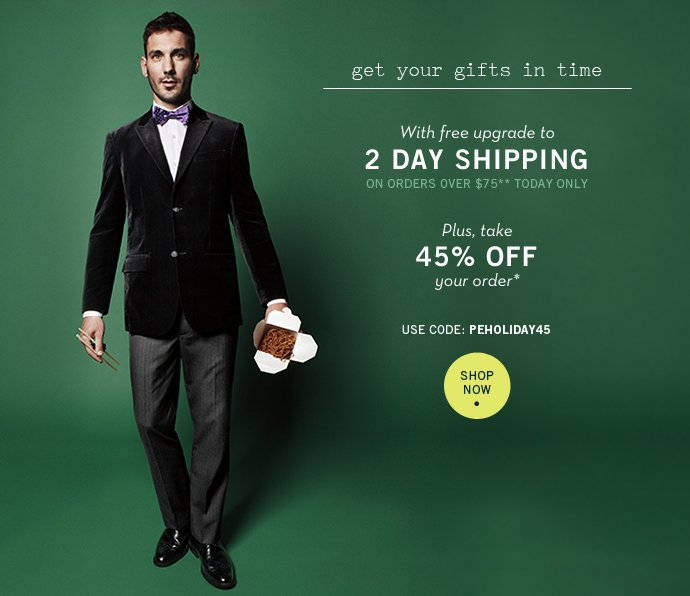 ✈ FREE 2 Day Shipping + Wrap Up Your Holiday Shopping Online