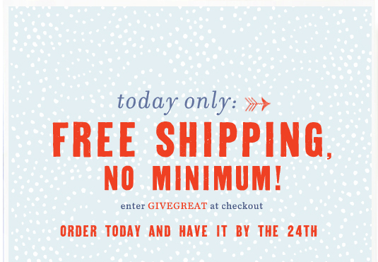 Get your gifts today while shipping's on us!