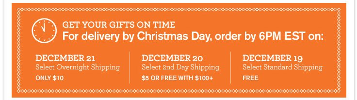 Get your gifts on time!