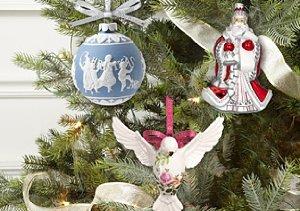 Festive Ornaments: Waterford & Wedgwood