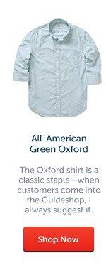 All-American Green Oxford