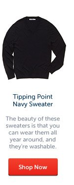 Tipping Point Navy Sweater