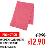 WOMEN CASHMERE BLEND SCARF