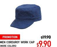 MEN CORDUROY WORK CAP