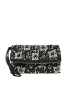 ASOS Clutch Bag With Double Tassel Zip