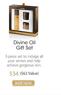 Divine Oil Gift Set: 3-piece set to indulge all your senses and help achieve gorgeous skin, $48 ($62 Value) -- SHOP NOW