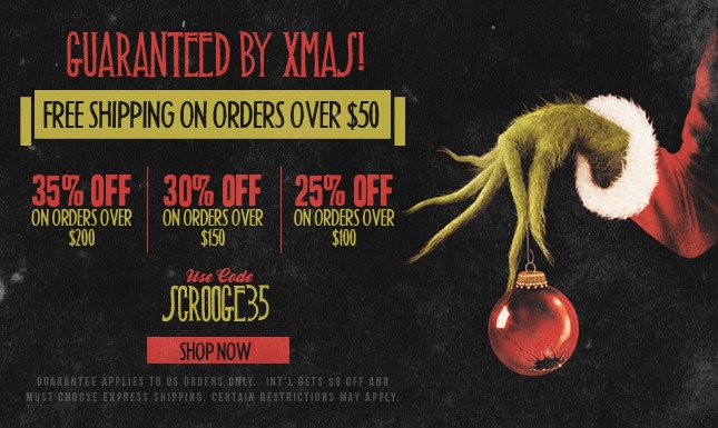 35% Off On Orders Over $200! Free Shipping On Orders Over $50