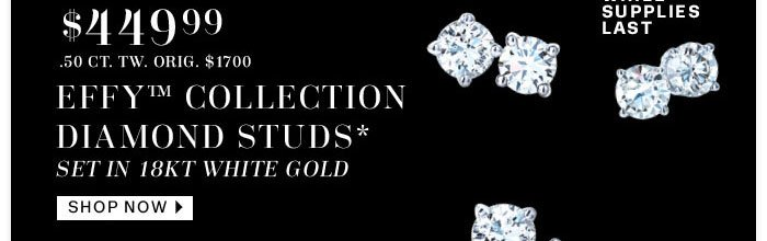 $499 Effy Collection Diamond Studs Shop Now
