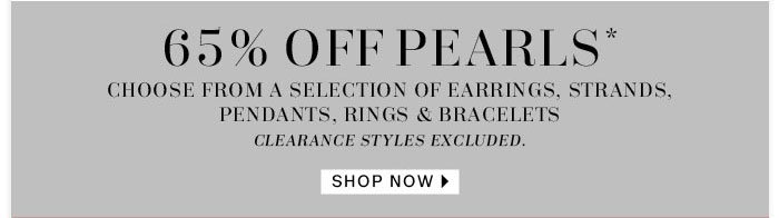 65% off pearls shop now