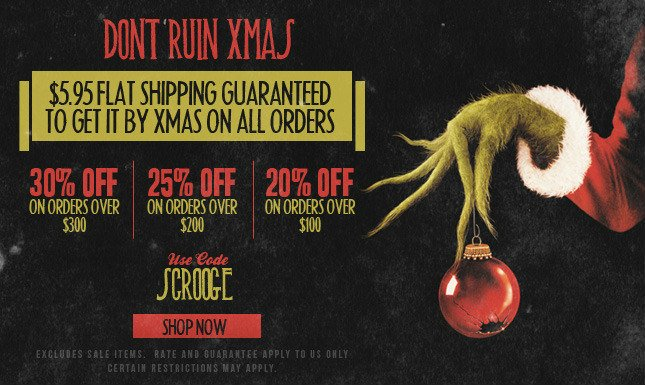 30% Off + Flat Rate Ship! Get It There By Xmas!