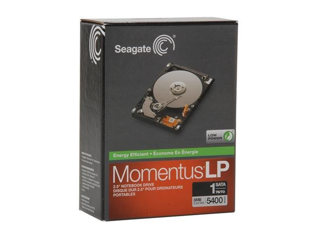 Seagate Momentus STBD1000100 1TB 5400 RPM 8MB Cache 2.5 inch SATA 3.0Gb/s Internal Notebook Hard Drive