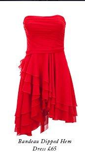 Bandeau Dipped Hem Dress