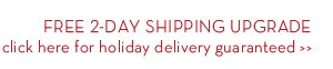 FREE 2-DAY SHIPPING UPGRADE click here for holiday delivery guaranteed.