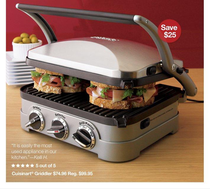 Cuisineart® Griddler $74.96 Reg. $99.95