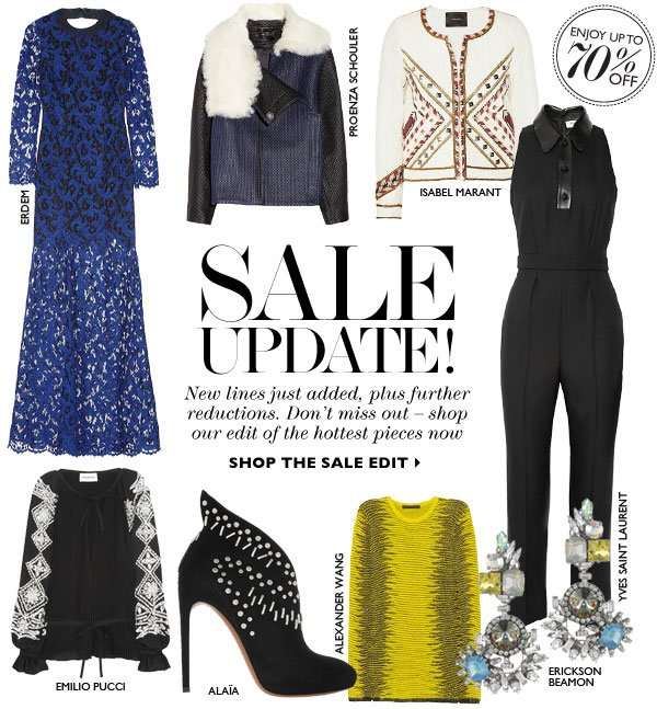 SALE UPDATE! New lines just added, plus further reductions. Don't miss out – shop our edit of the hottest pieces now