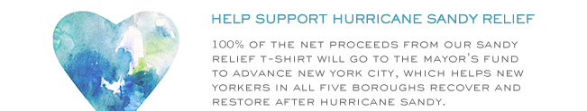 HELP TO SUPPORT HURRICANE SANDY RELIEF